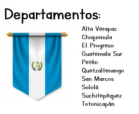 banderin de Guatemala y departamentos participantes